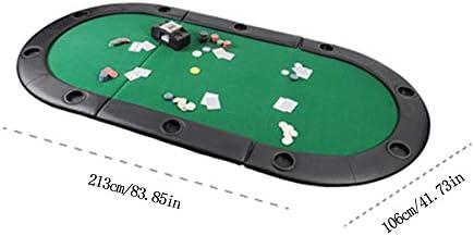 GYJ Juego de Mesa de Casino con Tapa Plegable de Texas Poker con ...