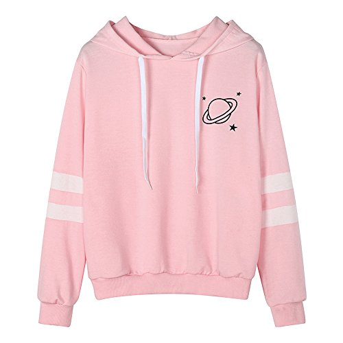 clearance sale!!ZEFOTIM Fashion Womens Long Sleeve Sweatshirt Printed Hoodie Causal Tops Blouse (X-Large,Pink) ()