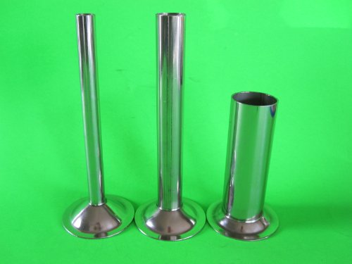 Price comparison product image (3) Stuffing Tubes for CHEFS CHOICE meat grinder attachment. STAINLESS STEEL