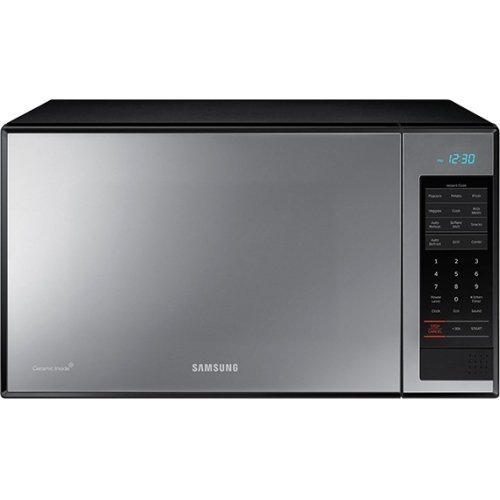 Samsung Countertop Grill Microwave, 1.4 Cubic Feet, Black with Mirror Finish