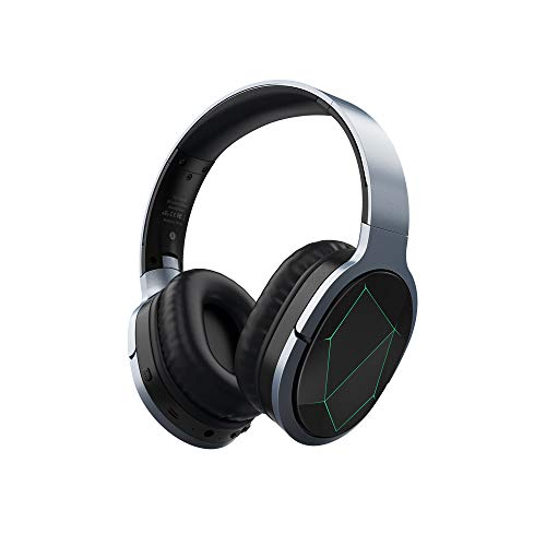 Azeada Wireless Gaming HeadphonesOver Ear, Noise Cancelling Headphones with Microphone Deep Bass Bluetooth Headphones Over Ear, 9H Playtime for Sporting TV PC Cellphone Gaming