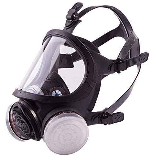 SCK Full Face Organic Vapor Respirator Professional Mask Widely Used in Paint, Dust, Chemical Protections (Black)