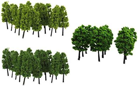sharprepublic 約40個 モデルツリー 街路樹 1/100 1/150 并木 塔の木 鉄道模型 建築模型 DIY 装飾モデル