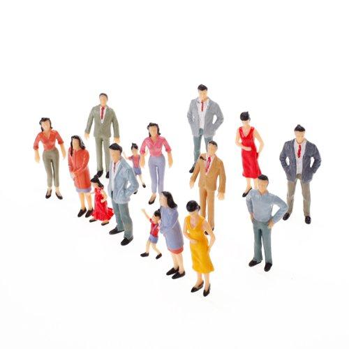Baoblaze 100x N Scale 1:150 Mix Painted Model Train Street Passenger People Figures Various Pose