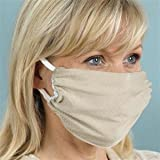 Breathe Healthy Masque de protection respiratoire Design nid d'abeille Beige