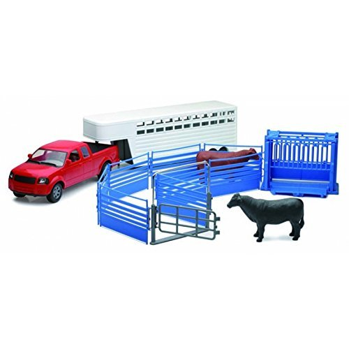 Pickup Truck with Cattle Ranch Life Playset 1:18 Scale