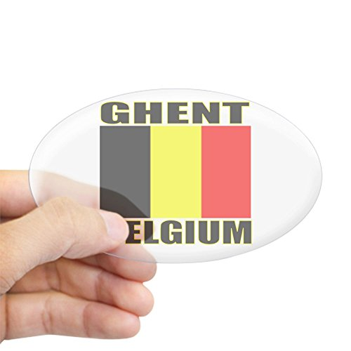 CafePress Ghent, Belgium Oval Sticker Oval Bumper Sticker, Euro Oval Car Decal