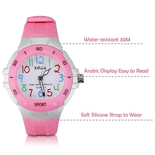 116 Kids Watch 30M Waterproof,Children Cartoon Wristwatch Child Silicone Wrist Watches Gift for Boys Girls Little Child – PerSuper (Pink) by PERSUPER (Image #2)