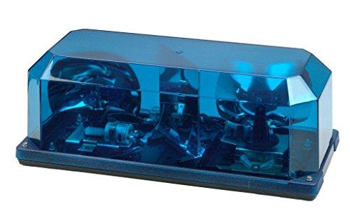 - Wolo (3505P-B) Priority 1 Halogen Emergency Warning Mini Light Bar - Blue Lens, Permanent Mount