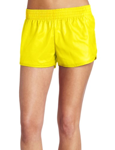 Soffe Juniors Soffe Lowrise Slick Short, Neon Yellow, Large (Rise Workout Short Low)