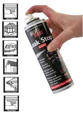 Good Ideas Leak Stop Spray n Seal Sealant Neutral 500ml (775) Stops leaks instantly! MANUFACTURED FOR GOOD IDEAS