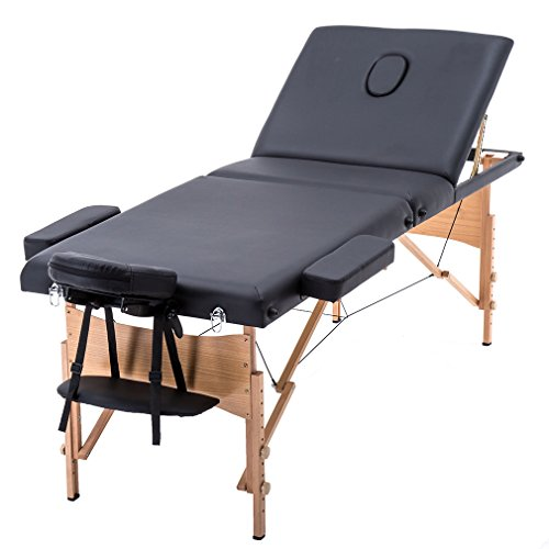 3 Fold Portable Massage Table w/Free Carry Case Facial Spa Bed