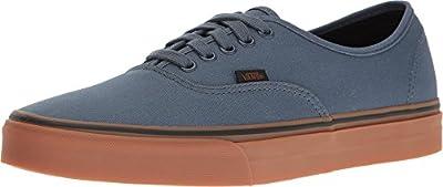 Vans Unisex Authentic (Gum) Dark Slate/Black Skate Shoe 6.5