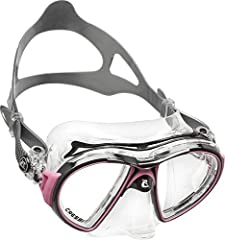 This Air scuba mask has a particular tapered structure deriving directly from the highly popular Cressi Nano mask patent. The Dual Integrated Frame Technology System (Cressi patented US 20140013494 A1) allows you to join the silicone skirt to...