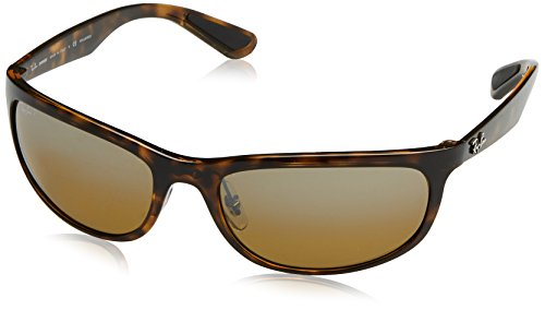 Ray-Ban RB4265 Chromance Lens Wrap Sunglasses, Tortoise Frame/Brown Mirror Lens - Ban Chromance Polarized Ray