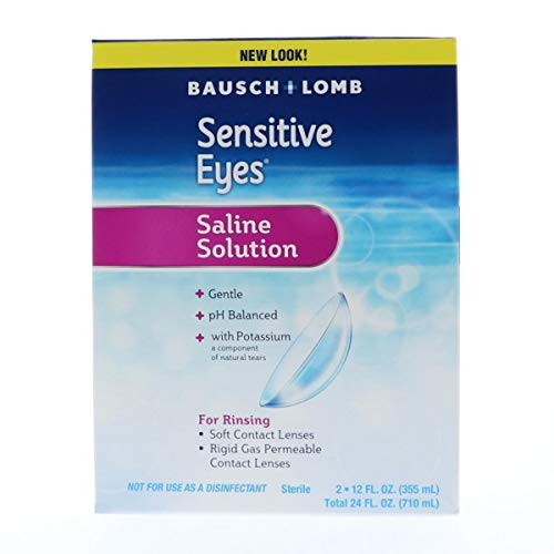 Bausch & Lomb Sensitive Eyes Plus Saline Solution Special Pack 24 oz (Pack of 5)