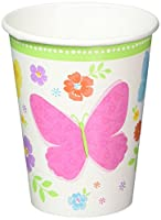 Amscan Celebrate Spring Paper Cups Disposable Drinkware (18 Pieces), Multicolor, 9 oz