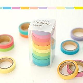 10 x rollos de washi tape arco iris