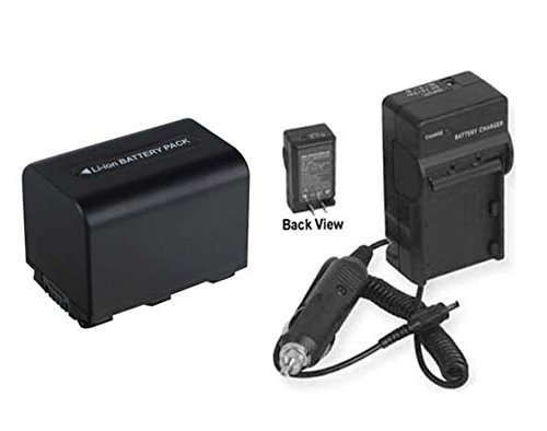 Battery + Charger for Sony HDRCX7EK, Sony HDR-CX7K, Sony HDR-CX11, Sony HDR-XR500, Sony HDRXR500, Sony DCR-SR57
