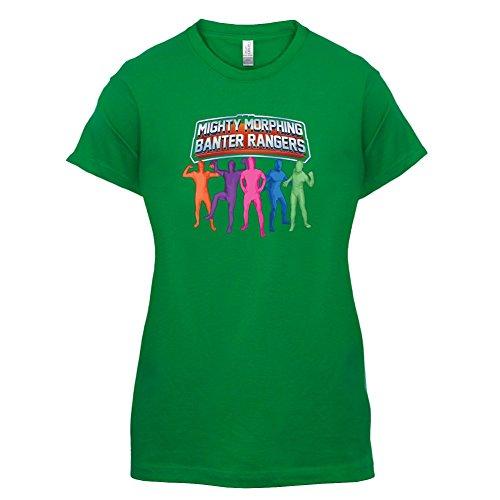 Mighty Morph Rangers - Womens T-Shirt - Green - XXL (Green Ranger Morph Suit)