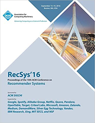 RecSys 16 19th ACM Conference on Recommender Systems