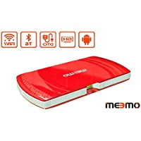 MEEMO Portable Mini Laser HD Projector, with Bluetooth, Wi-Fi or HDMI Connectivity with Screen Size up to 120 inches, Red