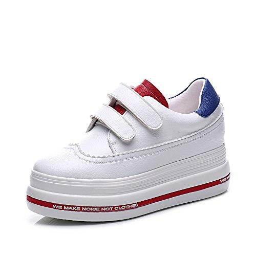 LvYuan Zapatos blancos de las mujeres / cuero de patente / oficina y carrera / talón plano / manera ocasional al aire libre de la comodidad / zapatos de la flatform / zapatillas de deporte que caminan 1#
