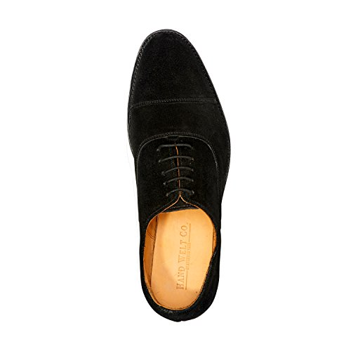 Anthony Veer Mens Clinton Cap-toe Oxford Leather Shoe in Goodyear Welted Construction (9.5 D, Black - Suede) by Anthony Veer (Image #3)