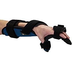 Rolyan 56072301 Advanced Orthosis, Functional Resting Brace, Left, Small, Foam Liner, Hand and Wrist Support Splint Allows For Extension/Flexion, Radial/Ulnar
