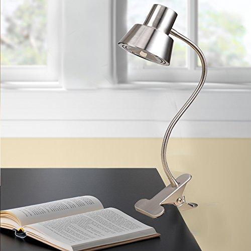 Tensor 19849-001 14-Inch LED Gooseneck Clip-On Desk Lamp, Brushed Nickel 19849-001