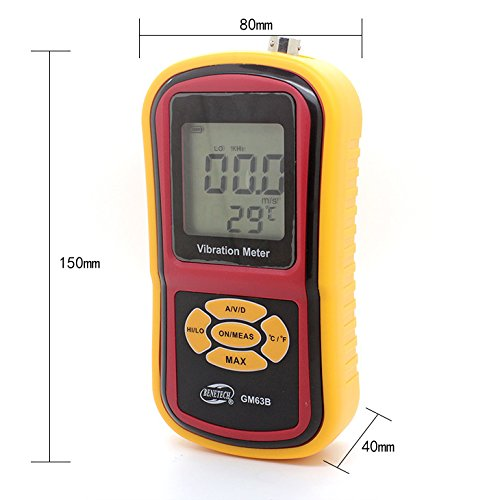 BENETECH GM63B Digital Vibration Meters hand held vibration monitoring equipment Max Hold Fucntion