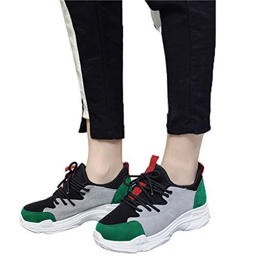 Sneakers Moda Invernale Zeppa Sportive Comode Lacci Plateau Verde Per Donne Donna Ginnastica Dragon868 Mixed Con Colors Regalo Scarpe Velluto dYqwgFT