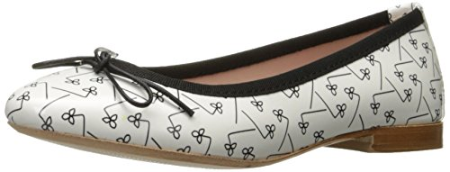 French Sole FS/NY Womens Loop Ballet Flat Scila Bianco TEXQfGJ7