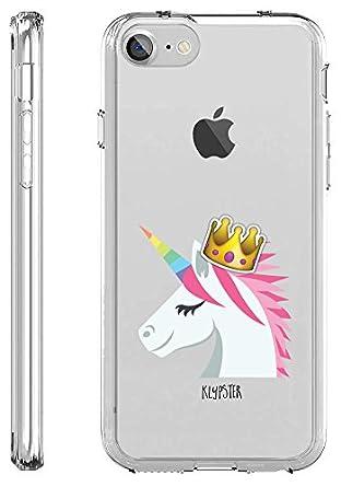 41TjK1DjDEL._SY445_ amazon com iphone 7 case cute unicorn emoji princess meme girly
