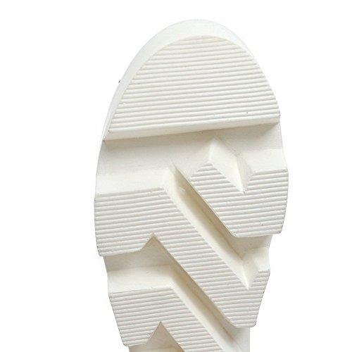 Balamasa Damesschoenen Verhogen Binnenin Haak-en-loop Geïmiteerde Lederen Sandalen Grijs
