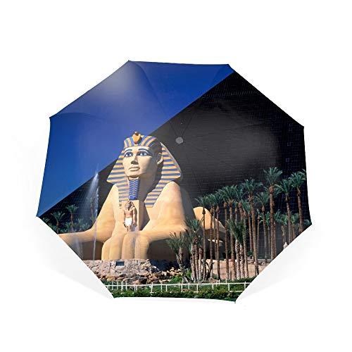 Luxor Hotel In Las Vegas Travel Umbrella, Automatic Folding Umbrella, Compact 46 Inch Rain Umbrella for Men Women, Auto Open Close (Luxor Vegas Hotel Las)