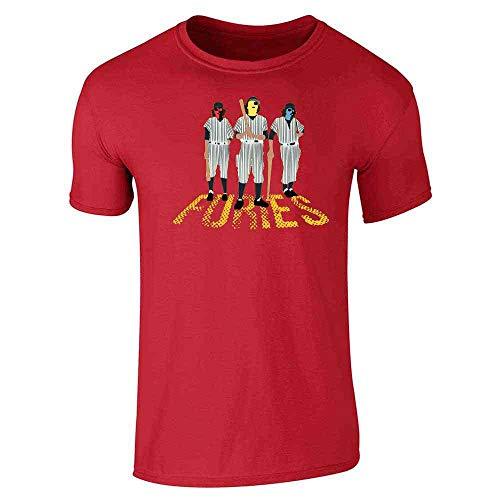 Baseball Furies Minimalist 70s Red L Short Sleeve T-Shirt -