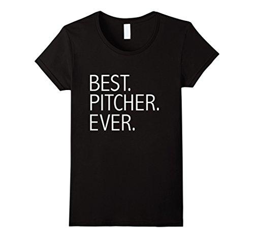 Women's Best Pitcher Ever Funny T-shirt Baseball Softball Player Medium - Best Players Softball
