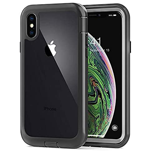 - 41TjL9bndBL - Cozosun iPhone X Case/iPhone Xs Case, Built-in Screen Protector Real 360° Full Body Protection Heavy Duty Shockproof Rugged Cover Skin for iPhone X/Xs 5.8inch (Black+Clear)