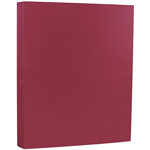 JAM PAPER Matte 93lb Cardstock - 8.5 x 11 Coverstock - Bakri Raspberry - 50 - 50 Raspberry Sheet
