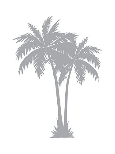 (2 Palms - Coastal Design Series - Etched Decal - For Shower Doors, Glass Doors and Windows - 19