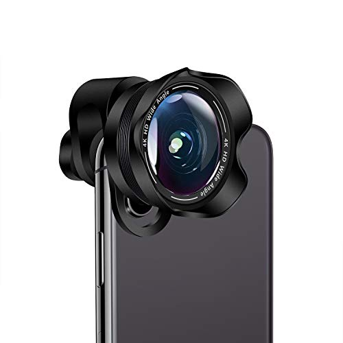 Cell Phone Camera Lens,TODI 4K HD 2 in 1 Aspherical Wide Angle Lens, Super Macro Lens,Clip-On Phone Camera Lenses Compatible iPhone,Samsung, Most Andriod Phones (No Distortion