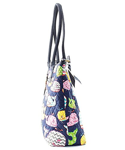 Hot Owl Tote Ngil Whale 2 Bag Medium Cotton Quilted Pink FBxxqZ8P