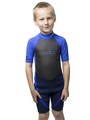 O'Neill Reactor Hybrid kids shorty wetsuit Youth 8 Navy/pacific blue (Pacific Wetsuit)