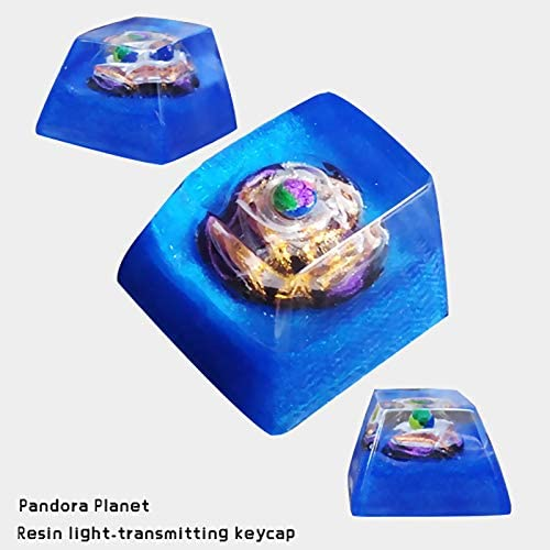 SSSLG ESC Keycap Mechanical Keyboard for All MX Switches,1 Resin Wood Keycap Personalized Manual Keycap