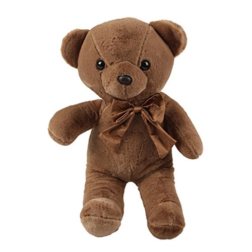 Miniso Teddy Bear Plush Toy 17 inch Teddy Bear Stuffed Animal Dolls Child Pillow Cushion, Super Soft Cuddly Figures for Kids Gift Party Favors (Brown) by Miniso