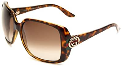 Amazon.com: Gucci Women's 3166/S Rectangle Sunglasses