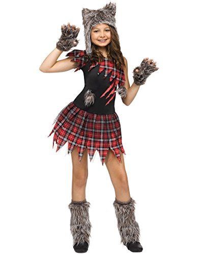 Werewolf Kids Costumes (Wild Wolfie Girl Kids Costume)