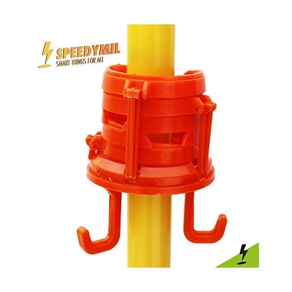 Speedymil Porta Bicchieri e Porta Borse per ombrelloni (Arancione) 4 spesavip