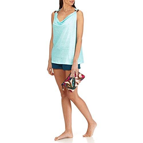 Azul Punto Vilebrequin Vuelto Laguna Con Top Liso Cuello Para Mujer En Holgado De Lino Rq7wrE6Rx